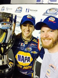 Chase Elliott & Dale Jr. after Chase won the NASCAR Nationwide Championship!!!
