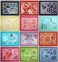 Mosaic Quilt Sampler by Pamela Jones at KimzSewing (Australia), resembling a stained glass quilt.