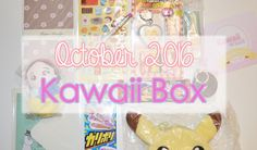 *GIVEAWAY ALERT - WIN YOUR OWN KAWAII BOX!* Lots of cute items in the Kawaii Box for October!  | Kawaii Box | Subscription Box | Review | Unboxing | Kawaii | Cute | Japanese Snacks | Japanese Candy | Pikachu | Pokemon | Stationary |