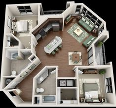 Your Guide to 4 bedroom apartments macon ga for your home haus Are You Making The 4 Bedroom Design Mistakes That Keep Decorators Up At Night? Sims House Plans, House Floor Plans, Apartment Floor Plans, Simple Floor Plans, Sims 4 House Building, Small House Plans, 4 Bedroom Apartments, Two Bedroom Tiny House, Casas The Sims 4