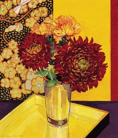 Chrysanthemums with Golden Objects