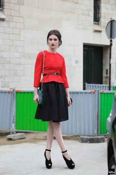 THEFASHIONALISTS: Outside - Red/Black