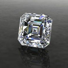 Loose asscher cut stone - SUPERNOVA Colorless Moissanite, E/F Color. SUPERNOVA colorless moissanite stones are cut just for you upon order. They take 3-4 weeks to deliver.