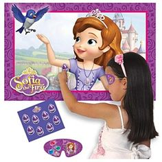 Sofia The First Party Game- Pin on Sofia's amulet
