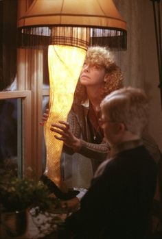 Melinda Dillon and Peter Billingsley as mother and son with dad's leg lamp in A Christmas Story Christmas Story Leg Lamp, Christmas Story Movie, Christmas Time, Merry Christmas, Christmas Vacation, Christmas Ideas, Christmas Stuff, Vintage Christmas, Primitive Christmas