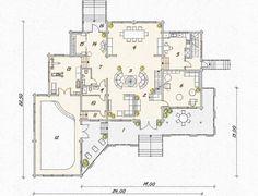 Проект бескомпромиссного, большого дома из клееного бруса - Лесная симфония. До 1000 м2