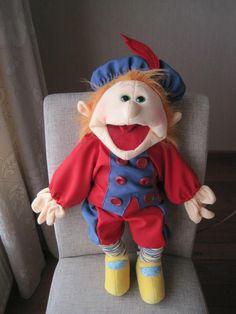 Zwarte pietenpak living puppet