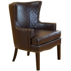 Best Selling Roma Brown Quilted Leather Arm Chair:Amazon:Home & Kitchen