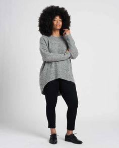 Sweater Making, Afro Hairstyles, Fall Looks, Winter Wardrobe, Cropped Sweater, Sweater Weather, Work Wear, Heather Grey, Perfect Fit