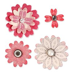 Sizzix - Bigz Die - From the Heart Collection - Die Cutting Template - Flower Layers with Heart Petals at Scrapbook.com $19.99