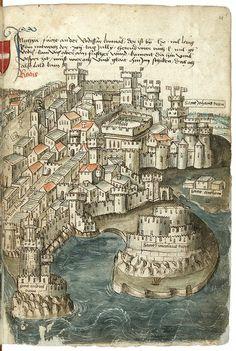 """""""Beschreibung der Reise von Konstanz nach Jerusalem"""", 1487 г."""