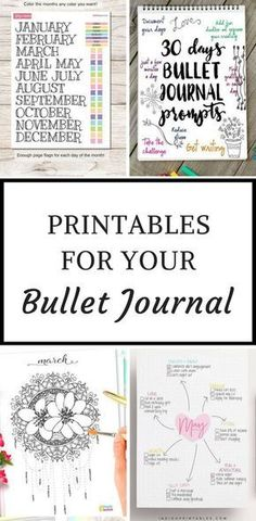Bullet Journal Printables - when you don't have time to draw out your layouts you can just print them out and stick them in your bujo instead! #bulletjournal #bujo