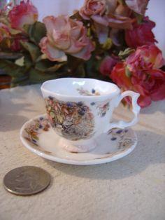 Autumn 1983 Royal Doulton miniature Cup & Saucer  Doll by zantana, $15.00