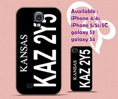 Supernatural Winchester Impala Kansas 4/4s,5/5s/5c, Samsung Galaxy s3/s4 Case