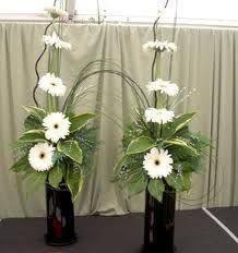 Image result for linear flower arrangements