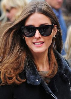 The latest cat-eye designs are for those with oval faces, like Olivia Palermo.