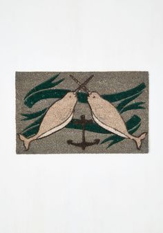 Give it Your Narwhal Doormat. Put everything youve got into decorating your apartment, using this nautical doormat as the grand finale to your efforts! #multi #modcloth