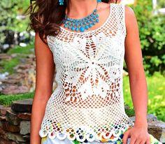 Fabulous Crochet a Little Black Crochet Dress Ideas. Georgeous Crochet a Little Black Crochet Dress Ideas. Blouse Au Crochet, T-shirt Au Crochet, Beau Crochet, Black Crochet Dress, Crochet Woman, Crochet Blouse, Knitting Patterns, Crochet Patterns, Crochet Bodycon Dresses
