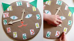 How to teach Kids to tell time. #craft bricolage horloge