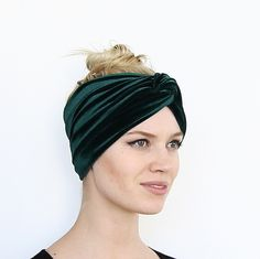 This beautiful chic handmade velvet turban headband is made from a stunning stretch velvet fabric. It is the perfect, most stylish way to get your hair out of your face, cover up day old hair, spice u