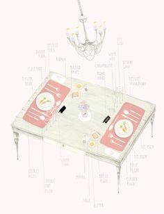table settings by amy borrell