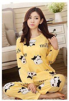 966af517f48 Foply Pajamas 2018 Spring Women Ladies Sexy Satin Pajamas Sets Long Sleeve  Tops+Pants Sleepwear Mujer Nightwear Pyjama Femme
