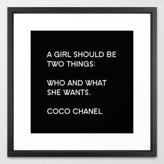 Typography Print Canvas Art Coco Chanel by BellaBellaShoppe, $20.00, Fashionable Home Decor, Art & Photography: fashion art, fashion photography, wall art, canvas art, typography prints, canvas quotes, large wall art, decor sets, girls room decor, teen room decor, and decorative throw pillows.