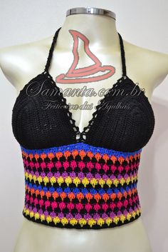 Feiticeira das Agulhas: Top Cropped Colorful