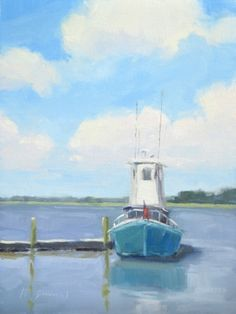 River Boat - Georgia Coast, painting by artist Laurel Daniel