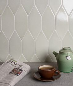 Picket Shape in Fireclay Tile Kitchen at Fireclay Tile, www.fireclaytile.com