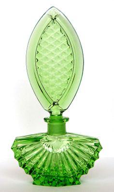 Green Perfume Bottle Art Deco bouteille de parfum