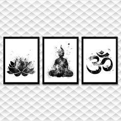 BUDA, BUDAS, FLOR DE LÓTUS, QUADRO FLOR DE LÓTUS, QUADRO DECORATIVO, DECORAÇÃO, DECORAÇÃO ESOTÉRICA, DECORAÇÃO PARA CASA, Buda Decoration, Zen Room, Yoga Art, Buddha, Meditation, Sweet Home, Artsy, House Design, Colours