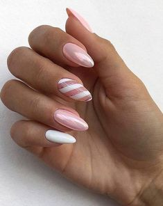 Swirl almond pink and white chrome nails black # Roses … – Birthday Nails And Party Nails – the Source Stylish Nails, Trendy Nails, Cute Nails, White Chrome Nails, Pink White Nails, Hair And Nails, My Nails, White Almond Nails, Pink Nail Art