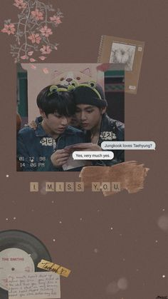 A little vintage edit of Taekook~ Foto Bts, Bts Photo, Bts Memes, Vkook Memes, Taekook, Wallpapers Kpop, Cute Wallpapers, Bts Christmas, V Bts Wallpaper