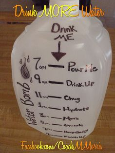 Part of eating clean is drinking PLENTY of water! Make sure you are staying HYDRATED!