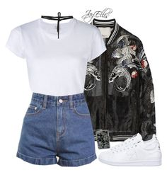 """""""Untitled #431"""" by justice-ellis ❤ liked on Polyvore featuring 3.1 Phillip Lim, RE/DONE, Zippo, adidas and Beaufille"""