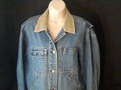 RALPH LAUREN Womens M Denim Jean Jacket Coat 100% Cotton #RalphLauren #JeanJacket