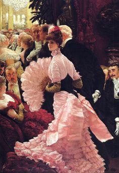 James Jacques Joseph Tissot - The Reception (L'Ambitieuse, Political Woman), 1885