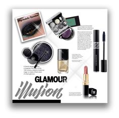 """NYE Beauty"" by jez-alex ❤ liked on Polyvore featuring beauty, Yves Saint Laurent, Chanel and Christian Dior"