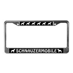 Schnauzermobile Schnauzers License Plate Frame
