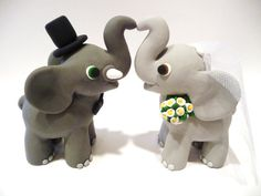 Hey, I found this really awesome Etsy listing at https://www.etsy.com/listing/162208793/elephant-wedding-cake-topper-choose-your