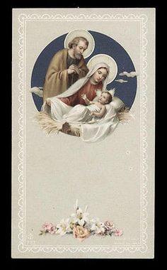 """santino-holy card""""""""ediz. FB n.732 NATIVITA'"""