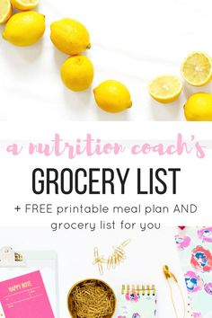 A nutrition coach's pantry staples plus free printable meal plan and grocery list!
