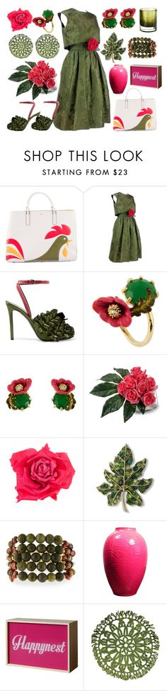 """Year Of The Rooster"" by yournightnurse ❤ liked on Polyvore featuring Anya Hindmarch, Adele Simpson, Marco de Vincenzo, Les Néréides, John-Richard, Johnny Loves Rosie, Kenneth Jay Lane, NAKAMOL, Seletti and Pols Potten"