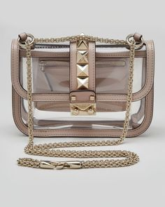 Valentino Rockstud Small PVC Lock Crossbody Bag