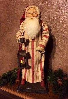 Handmade Primitive Santa by HeartFeltPrims on Etsy  Susan Bonczyk