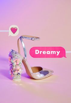 Dreamy is right! These heels are the perfect party partner for any #wedding.