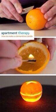 Velas con aroma a naranja.