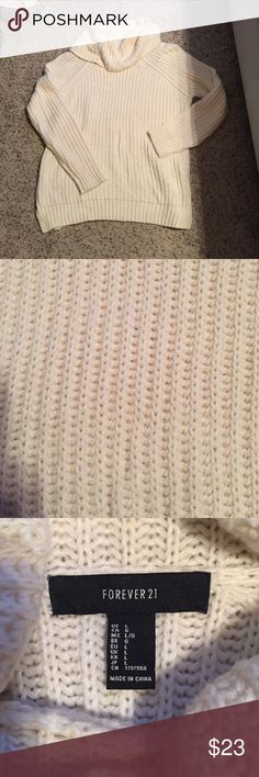 Cream cowl neck sweater Forever 21 sweater Sweaters