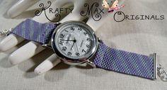 Soft Handmade Beadwoven Watch Band and Watch - a Krafty Max Original | KraftyMax - Jewelry on ArtFire